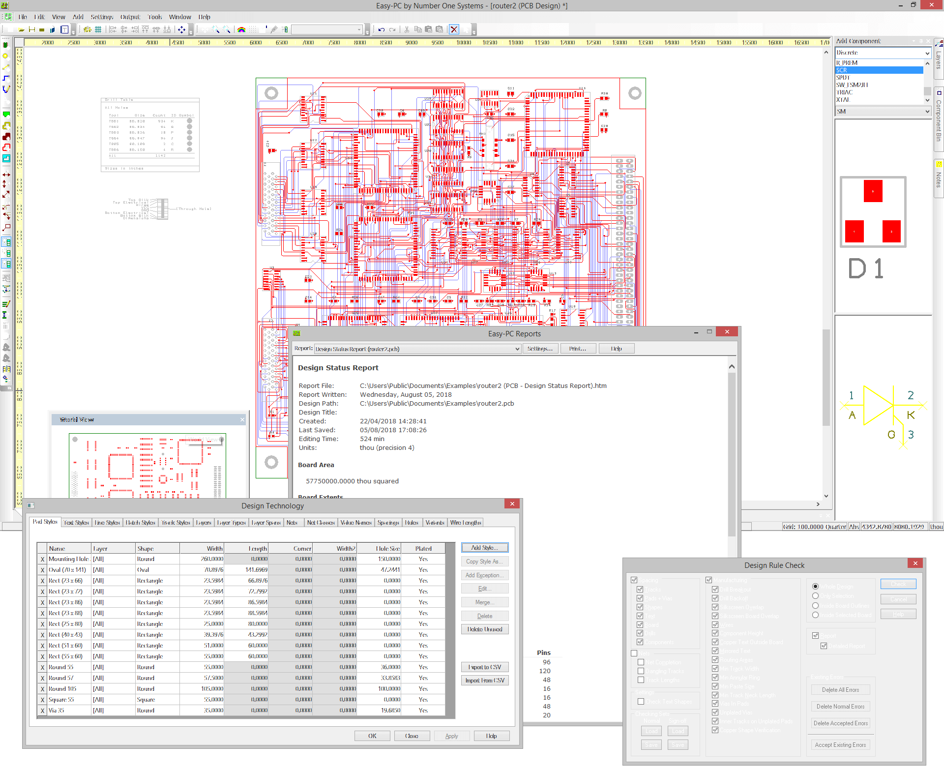 PCB Routed in Easy-PC